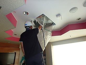 天井カセット型エアコン洗浄作